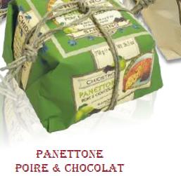 Panettone poire chocolat 750g